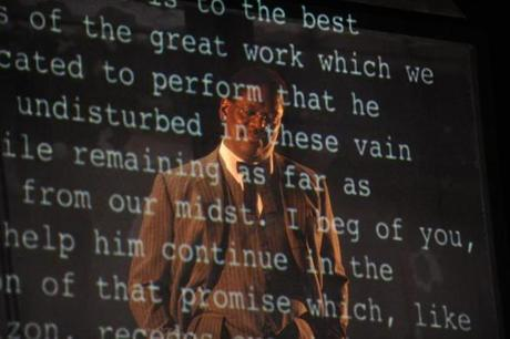 "Johnny Lee Davenport in ""Invisible Man,'' a coproduction by the Studio Theatre and the Huntington Theatre Company. Every word in the play is taken from the novel."